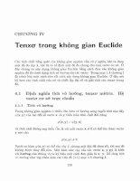 Phép tính tenxơ và vài ứng dụng trong cơ học, vật lý  4