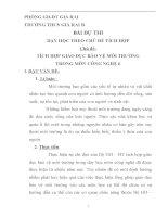 BÀI dự THI dạy học THEO CHỦ đề TÍCH hợp TÍCH hợp GIÁO dục bảo vệ môi TRƯỜNG TRONG môn CÔNG NGHỆ 6