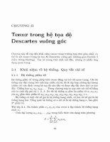 Phép tính tenxơ và vài ứng dụng trong cơ học, vật lý  2