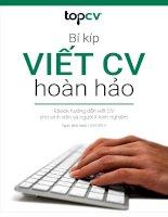 Bí Kíp Viết CV Hoàn Hảo từ TopCV.vn