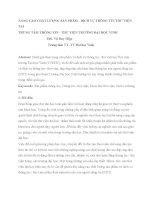 NÂNG CAO CHẤT LƯỢNG sản PHẨM DỊCH vụ THÔNG TIN THƯ VIỆN tại TRUNG tâm THÔNG TIN   THƯ VIỆN TRƯỜNG đại học VINH