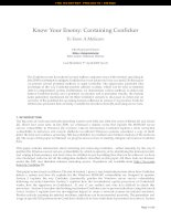 Know Your Enemy: Containing Conficker