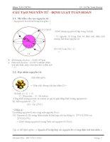 Bài tập về cấu tạo nguyên tử và định luật tuần hoàn