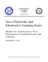 Introduction To Wave Propagation Transmission Lines And Antennas