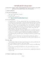 Chuyên đề môn toán ỨNG DỤNG CÔNG THỨC TÍNH KHOẢNG CÁCH và góc vào một số bài TOÁN HÌNH học tọa độ PHẲNG