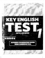 Key english test 1 with anwers