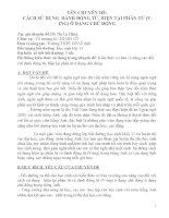 CÁCH sử DỤNG  DANH ĐỘNG từ, HIỆN tại PHÂN từ (v ING) ở DẠNG CHỦ ĐỘNG