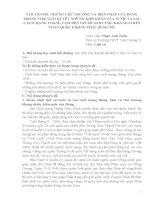 CHUYÊN đề NHỮNG CHỦ TRƯƠNG và BIỆN PHÁP của ĐẢNG TRONG VIỆC GIẢI QUYẾT NHỮNG KHÓ KHĂN của nước TA SAU CÁCH MẠNG THÁNG tám đến TRƯỚC KHI CUỘC KHÁNG CHIẾN TOÀN QUỐC CHỐNG PHÁP BÙNG nổ