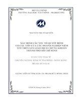 XÁC ĐỊNH các yếu tố QUYẾT ĐỊNH cơ cấu vốn của các DOANH NGHIỆP NIÊM yết TRÊN sàn GIAO DỊCH CHỨNG KHOÁN THÀNH PHỐ hồ CHÍ MINH