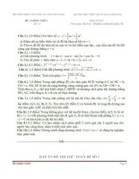 Đề thi thử toán THPT Quốc Gia 2016 trường chuyên Võ Nguyên Giáp  Quảng Bình (có đáp án)
