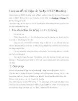 Làm sao để cải thiện tốc độ đọc IELTS reading