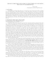 THÀNH TỰU KHOA HỌC CÔNG NGHỆ CỦA VIỆN NGHIÊN CỨU NUÔI TRỒNG THỦY SẢN I TỪ NĂM 2000 ĐẾN NAY