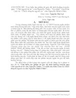 Tìm hiểu tác phẩm từ góc độ tình huống truyện qua Chữ người tử tù của Nguyễn Tuân; Vợ nhặt của Kim Lân và Chiếc thuyền ngoài xa của Nguyễn Minh Châu.DOC