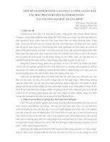 ỘT số GIẢI PHÁP NÂNG CAO CHẤT LƯỢNG GIẢNG dạy các học PHẦN CHUYÊN NGÀNH kế TOÁN