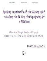 Áp dụng và phát triển kết cấu  công nghệ xây dựng cầu bê tông cốt thép dự ứng lực ở Việt Nam