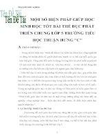MỘT SỐ BIỆN PHÁP GIÚP HỌC SINH HỌC TỐT BÀI THỂ DỤC PHÁT TRIỂN CHUNG LỚP 5 TRƯỜNG TIỂU HỌC THUẬN HƯNG
