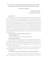 NGUYÊN NHÂN và BIỆN PHÁP KHẮC PHỤC KHÓ KHĂN tâm lý TRONG HOẠT ĐỘNG học tập của SINH VIÊN năm THỨ NHẤT ở TRƯỜNG