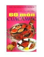 Kỹ thuật nấu ăn đãi tiệc 60 món cua, cá, mực