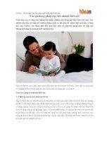 Phương pháp dạy trẻ nhanh biết nói