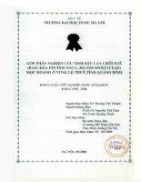 Góp phần nghiên cứu tinh dầu cây chổi xuể ( Baeckea Frutescens L., Họ sim Myrtaceae ) mọc hoang ở vùng Lệ Thủy, tỉnh Quảng Bình
