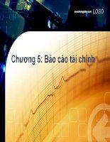 Nguyên lí kế toán chương 5  báo cáo tài chính