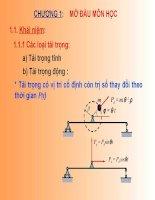 Slide Động lực học công trình chương 1
