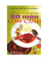 Kỹ thuật nấu ăn đãi tiệc 60 món cơm canh