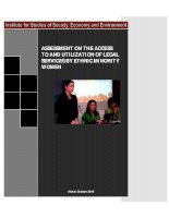 Assessment on the access to and utilization of legal services by ethnic minority women