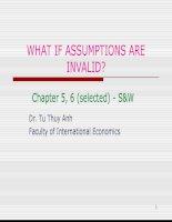 Econometrics – lecture 5 – assumptions