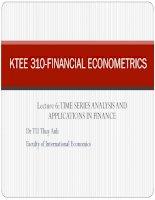 Econometrics – lecture 8 – time series