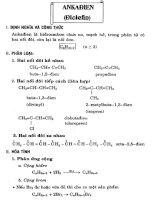hóa học phổ thông chuyên đề Ankađien (điolefin)