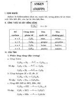 hóa học phổ thông chuyên đề Anken (olefin)