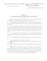 Thông tư 17 quy định chuẩn Hiệu trường Mầm non
