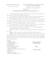 Thông tư số 17/2011/TT BGDĐT ngày 14/4/2011 của BGD&ĐT