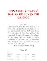 HƠN 3.000 BÀI TẬP TIẾNG ANH CÓ ĐÁP ÁN ĐỂ LUYỆN THI ĐẠI HỌC
