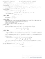 Đề 59 và đáp án
