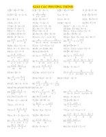 bài tập tổng hợp tất cả các dạng về phương trình