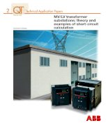 transformer substaions theory and examples of short circuit calculations