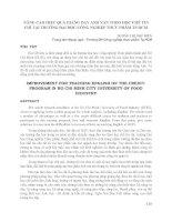NÂNG CAO HIỆU QUẢ GIẢNG dạy ANH văn THEO học CHẾ tín CHỈ tại TRƯỜNG đại học CÔNG NGHIỆP THỰC PHẨM TP HCM