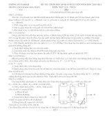 đề thi hsg lý 9 có đáp án