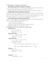 chuyên đề Tập giá trị của hàm số