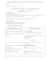 Giáo án dạy thêm toán lớp 9 (Cả năm)