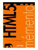 memento html5  (Sách tóm tắt các chức năng chính của HTML 5)