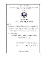 Giải pháp nâng cao chất lượng tín dụng đối với kinh tế ngoài quốc doanh tại ngân hàng TMCP sài gòn – hà nội (SHB)   chi nhánh hà nội