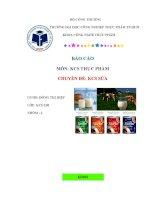 phương pháp kiểm tra chất lượng sữa   BÁO CÁO KCS sữa