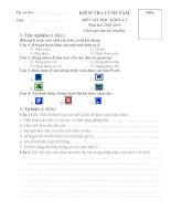 Đề thi Tin học Lớp 5 TH Nghĩa Phong