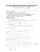 Giáo án HĐGDNGLL Khối 9