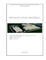 Đồ án kỹ thuật thi công 2 thiết kế tổ chức thi công nhà công nghiệp một tầng