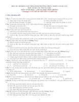 BỘ câu HỎIBÀI tập MÔN SINH THEO ĐỊNH HƯỚNG PHÁT TRIỂN NĂNG lực học SINH cấp TRUNG học  có đáp án