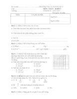 Đề kiểm tra môn toán lớp 5